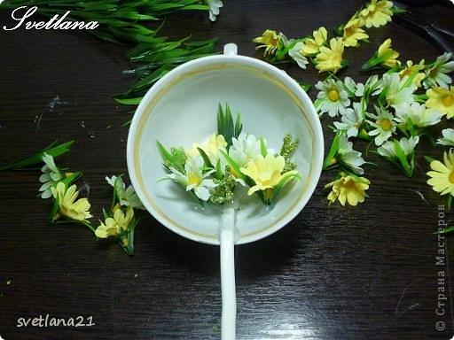 Processo de modelagem master-class de fazer uma xícara de flor fotos 10