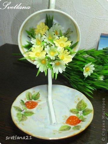 Processo de modelagem master-class de fazer uma xícara de flor fotos 11