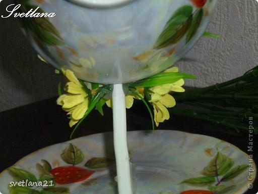 Processo de modelagem master-class de fazer uma xícara de fotos da flor 12
