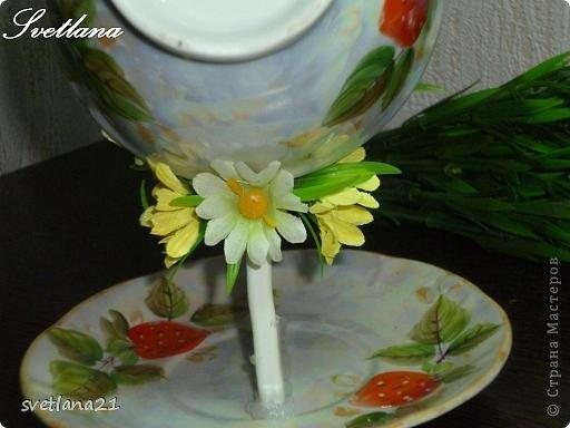 Processo de modelagem master-class de fazer uma xícara de flor fotos 13