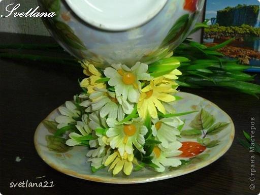 Processo de modelagem master-class de fazer uma xícara de flor fotos 14