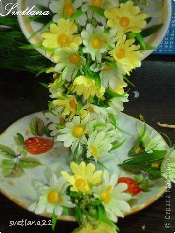 Processo de modelagem master-class de fazer uma xícara de flor fotos 15