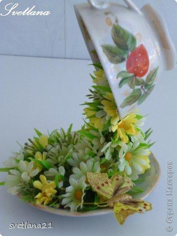 Processo de modelagem master-class de fazer uma xícara de flor fotos 17