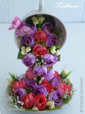 Processo de modelagem master-class de fazer uma xícara de flor fotos 18