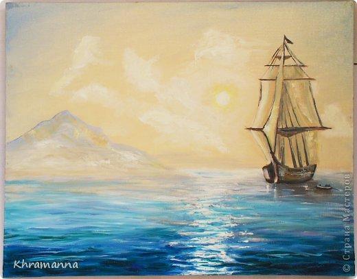 картины моря маслом: