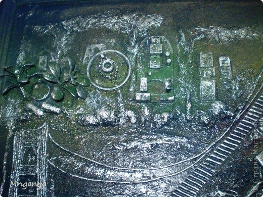 Картина панно рисунок Коллаж Звездолет Букет и Пуговичное дерево Материал бросовый Материал природный фото 5