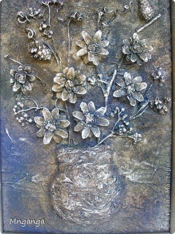 Картина панно рисунок Коллаж Звездолет Букет и Пуговичное дерево Материал бросовый Материал природный фото 11