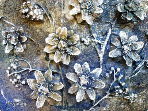 Картина панно рисунок Коллаж Звездолет Букет и Пуговичное дерево Материал бросовый Материал природный фото 9