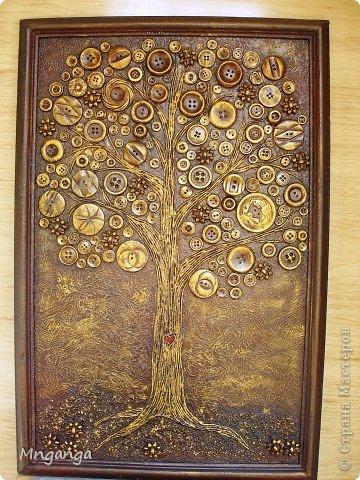 Картина панно рисунок Коллаж Звездолет Букет и Пуговичное дерево Материал бросовый Материал природный фото 16