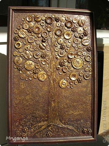 Картина панно рисунок Коллаж Звездолет Букет и Пуговичное дерево Материал бросовый Материал природный фото 17