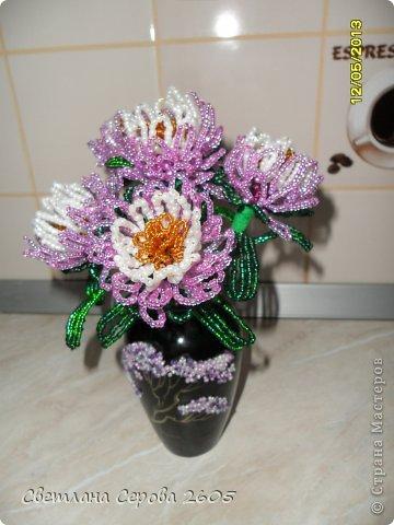 Поделка изделие Бисероплетение Цветы из бисера Бисер Бумага гофрированная Проволока фото 3.