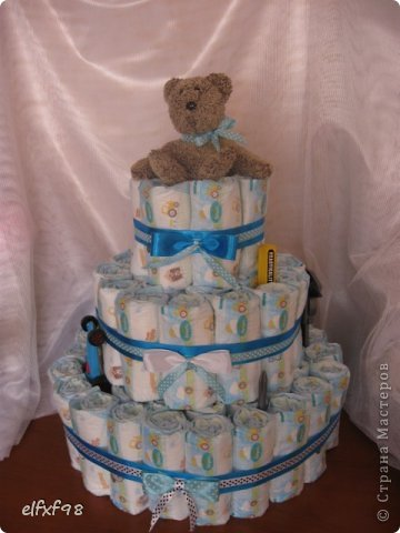 Торт из подгузников фото 17