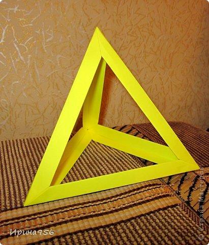 Поделки из бумаги тетраэдр оригами 66