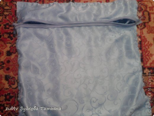 Мастер-класс Шитьё Подушка с бусинами Ткань фото 16