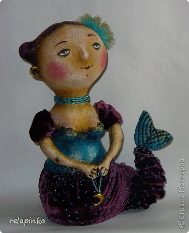 Куклы День рождения Папье-маше Шитьё Русалка Ткань фото 1