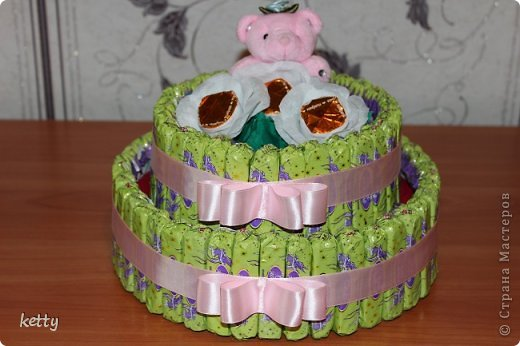 Это моя вторая работа в свит-дизайне. Этот тортик подарок однокласснице дочки. фото 1