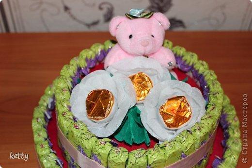 Это моя вторая работа в свит-дизайне. Этот тортик подарок однокласснице дочки. фото 2