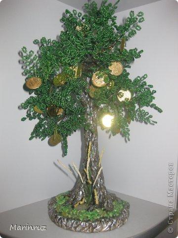 Бонсай топиарий Бисероплетение Денежное дерево из бисера Бисер фото 1.