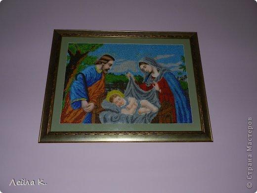 Картина панно рисунок Пасха Бисероплетение Счастливая Семья Бисер фото 2.