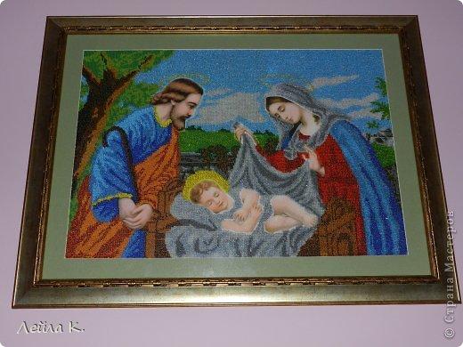 Картина панно рисунок Пасха Бисероплетение Счастливая Семья Бисер фото 1.