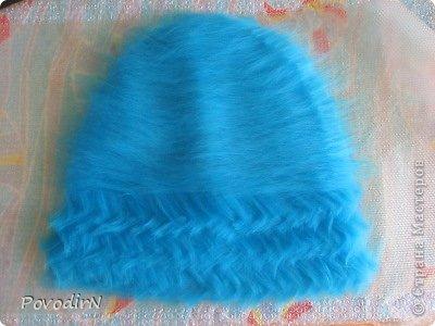 Мастер-класс Валяние фильцевание Банная шапка Шерсть фото 5