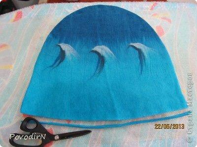 Мастер-класс Валяние фильцевание Банная шапка Шерсть фото 17