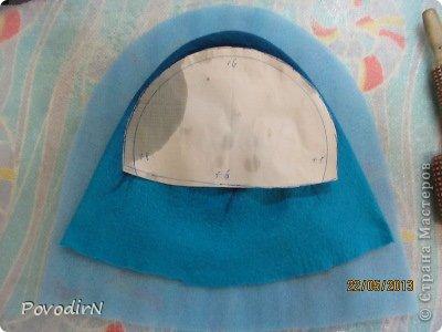 Мастер-класс Валяние фильцевание Банная шапка Шерсть фото 20