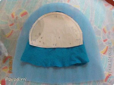 Мастер-класс Валяние фильцевание Банная шапка Шерсть фото 22