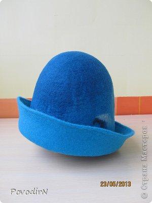 Мастер-класс Валяние фильцевание Банная шапка Шерсть фото 24