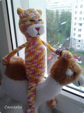 Игрушка Вязание крючком Аминеко Кот Аки Пряжа фото 3.