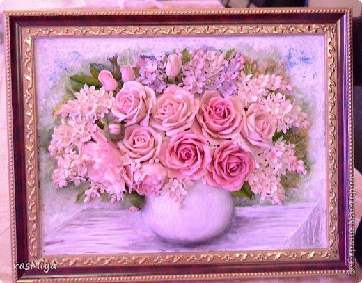 Картины из соленого теста цветы мастер класс