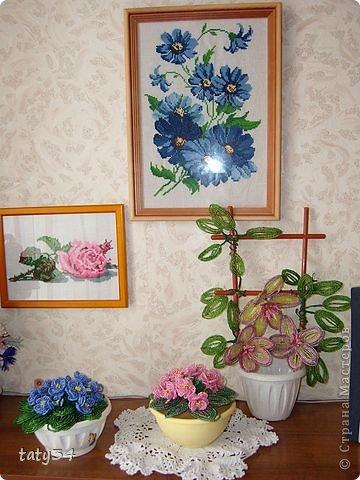 Поделка изделие Бисероплетение Цветы из бисера и вышивка Бисер фото 2.