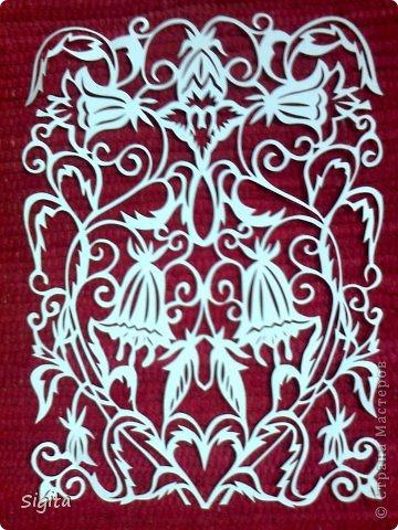 Картина панно рисунок Вырезание Колокольчики Копия Бумага фото 1.