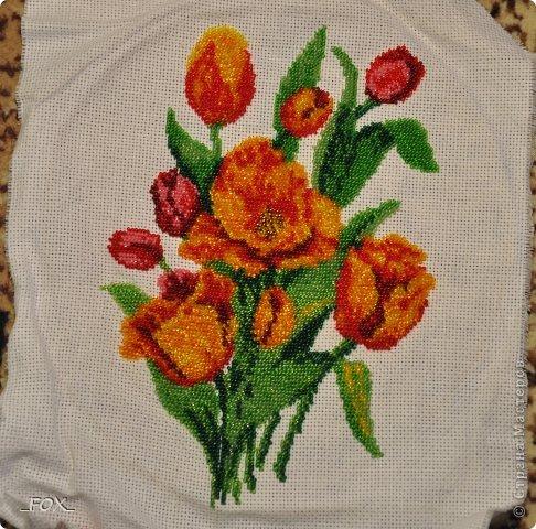 Вышивка бисером. Цветы для