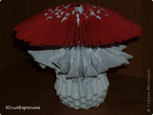 Поделка изделие Оригами китайское модульное мухомор Бумага.