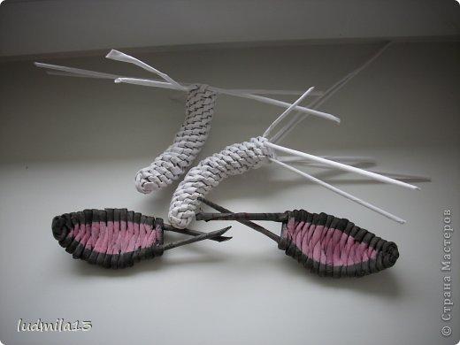 Поделка изделие Плетение коровушка плетеная Трубочки бумажные фото 5
