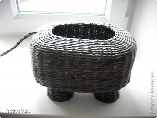Поделка изделие Плетение коровушка плетеная Трубочки бумажные фото 10