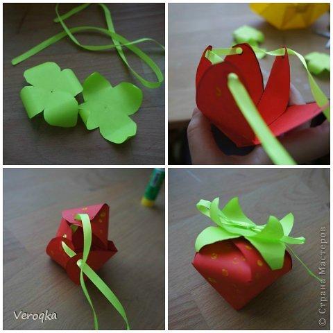 Поделки ягод из бумаги 70
