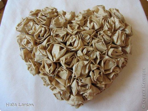 Мастер-класс Картонаж Винтажное сердце Бумага Воск парафин Картон Клей фото 14