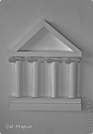 Макет древне-греческих колонн я делала в художественной школе, в которую я хожу уже 4 года.