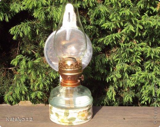 Присмотрела у мужа на даче лампу старую, отмыла, оттерла и перевезла к себе на дачу, где она и переродилась.