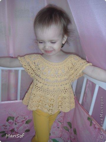 Собиралась связать такое платье http://www.liveinternet.ru/users/4911808/post255627056/ . Получилась такая туничка. На этом моток 100гр закончился. фото 1