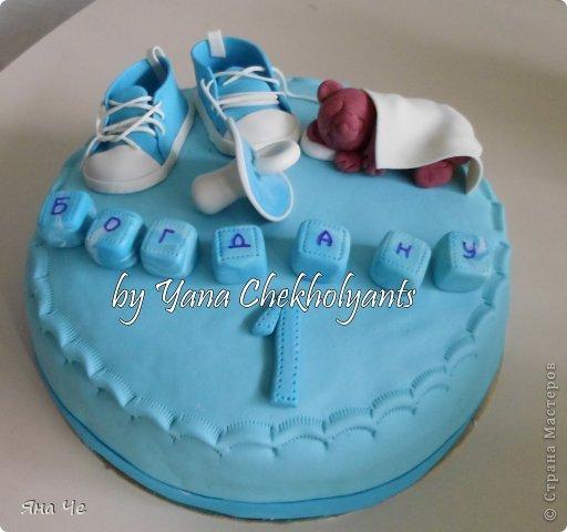 Тортик для дочери друзей. Малышку зовут Маша, но так ее никто не называет, она и Маня, и Маруся, и Марсель)))) Вот я им и подписала) фото 3