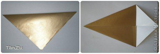 Всем огромный привет! Хочу поделиться со всеми процессом изготовления вот такой закрученной ракушки в технике оригами. Свою работу я назвала мастер-классом. Конечно же, ракушку и способ складывания этой поделки придумала не я, делала по видео-уроку с сайта Планета оригами http://planetaorigami.ru/2012/07/zakruchennaya-rakovina-po-sxeme-tomoko-fuse/  А я хочу показать вам этапы своей работы с пояснениями, которые, я надеюсь, значительно облегчат труд желающим сложить такую ракушку. Сама я раз пятнадцать пересматривала видео, пока точно не посчитала необходимое количество сложений. Если модераторы не посчитают мою запись мастер-классом, то я не обижусь. Сначала советую посмотреть видео, а потом следовать моему Мк. Фотографий будет много, но не пугайтесь, на самом деле все не так сложно, вторую ракушку, которую я вам здесь представляю, я делала уже практически по памяти. Как говорится, глаза боятся, а руки делают! фото 2