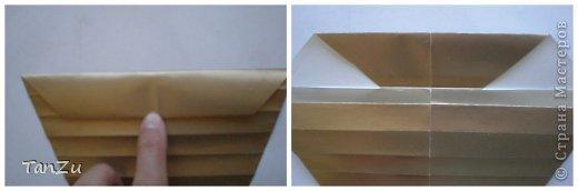 Всем огромный привет! Хочу поделиться со всеми процессом изготовления вот такой закрученной ракушки в технике оригами. Свою работу я назвала мастер-классом. Конечно же, ракушку и способ складывания этой поделки придумала не я, делала по видео-уроку с сайта Планета оригами http://planetaorigami.ru/2012/07/zakruchennaya-rakovina-po-sxeme-tomoko-fuse/  А я хочу показать вам этапы своей работы с пояснениями, которые, я надеюсь, значительно облегчат труд желающим сложить такую ракушку. Сама я раз пятнадцать пересматривала видео, пока точно не посчитала необходимое количество сложений. Если модераторы не посчитают мою запись мастер-классом, то я не обижусь. Сначала советую посмотреть видео, а потом следовать моему Мк. Фотографий будет много, но не пугайтесь, на самом деле все не так сложно, вторую ракушку, которую я вам здесь представляю, я делала уже практически по памяти. Как говорится, глаза боятся, а руки делают! фото 12