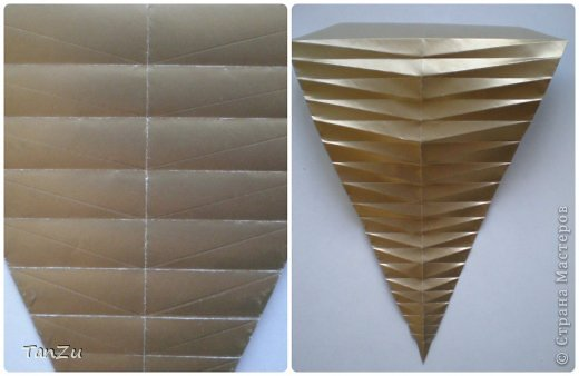 Всем огромный привет! Хочу поделиться со всеми процессом изготовления вот такой закрученной ракушки в технике оригами. Свою работу я назвала мастер-классом. Конечно же, ракушку и способ складывания этой поделки придумала не я, делала по видео-уроку с сайта Планета оригами http://planetaorigami.ru/2012/07/zakruchennaya-rakovina-po-sxeme-tomoko-fuse/  А я хочу показать вам этапы своей работы с пояснениями, которые, я надеюсь, значительно облегчат труд желающим сложить такую ракушку. Сама я раз пятнадцать пересматривала видео, пока точно не посчитала необходимое количество сложений. Если модераторы не посчитают мою запись мастер-классом, то я не обижусь. Сначала советую посмотреть видео, а потом следовать моему Мк. Фотографий будет много, но не пугайтесь, на самом деле все не так сложно, вторую ракушку, которую я вам здесь представляю, я делала уже практически по памяти. Как говорится, глаза боятся, а руки делают! фото 13