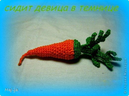 Игрушка Мастер-класс Вязание крючком Мастер-класс вязаная крючком морковочка Пряжа