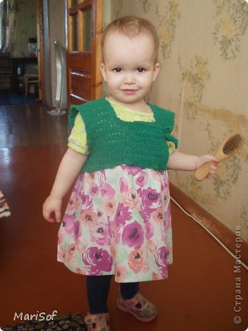 Собиралась связать такое платье http://www.liveinternet.ru/users/4911808/post255627056/ . Получилась такая туничка. На этом моток 100гр закончился. фото 5
