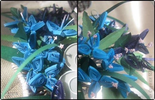 Привет:)) Во флористическом магазине увидела эту раковину для цветочных композиций и решила попробовать сделать объемную квиллинг-композицию. Прошлась по плетению белым акрилом, чтобы полупрозрачные анемоны вписались в объем. фото 4