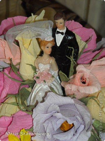 Давно хотелось сделать нечто неординарное. Спасибо девочкам из СМ за свадебные идеи в свое время. И вот одна из них) фото 5
